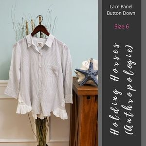 Holding Horses (Anthro) | Lace Panel Button Down